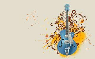 Бесплатные фото электрогитара, гриф, струны, фон, рисунок, узор