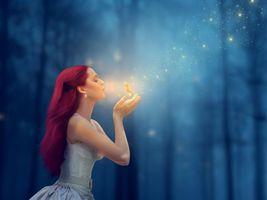 Бесплатные фото девушка, красотка, магия