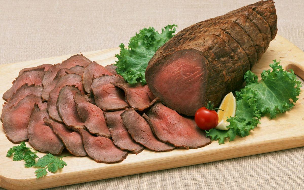 Фото бесплатно мясо, буженина, ломтики - на рабочий стол