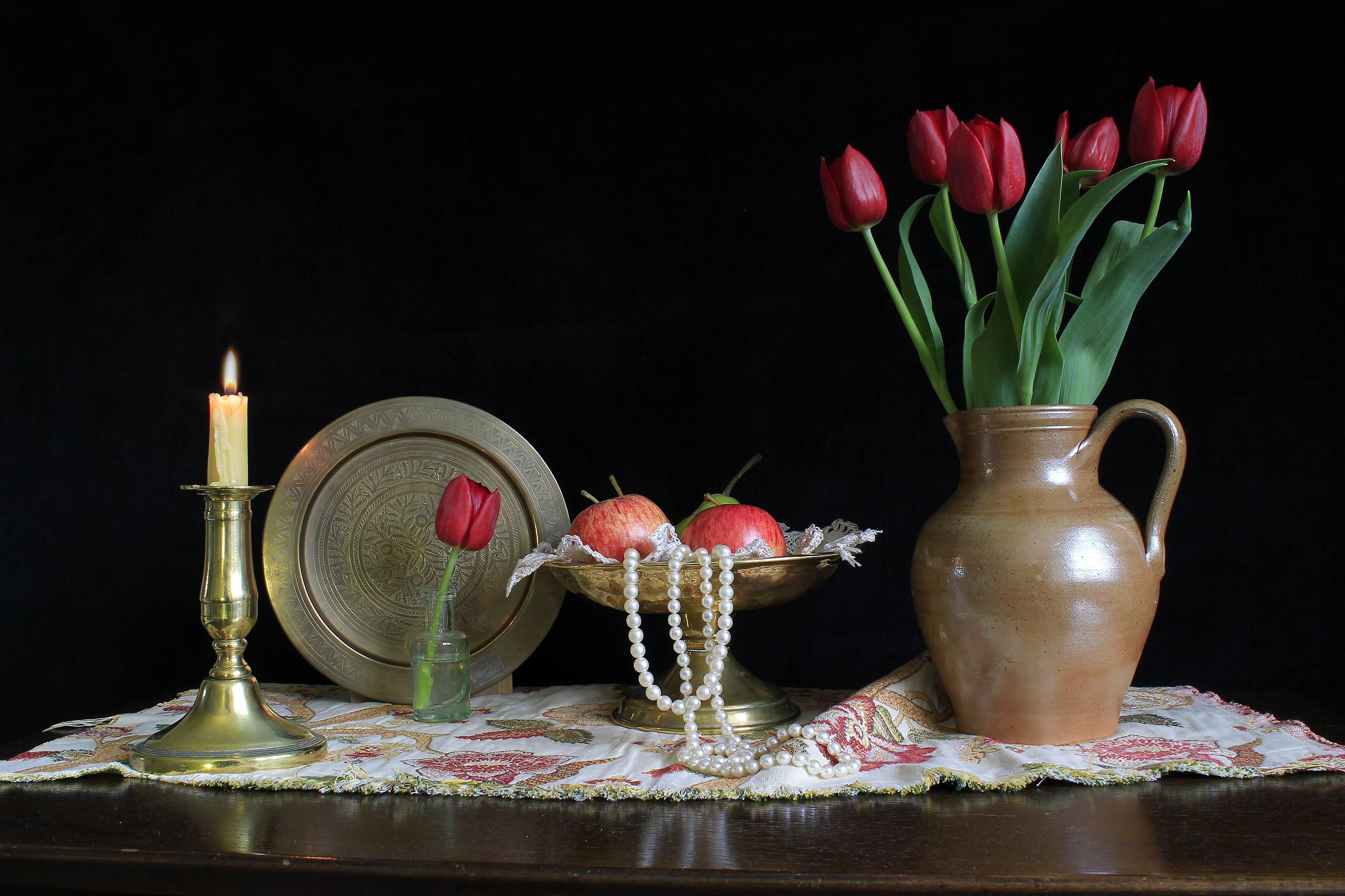 свеча, стол, ваза