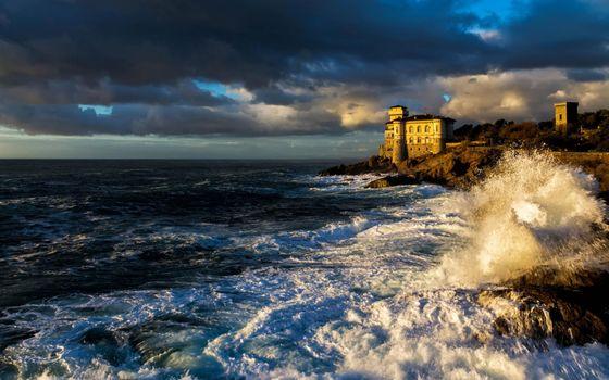 Заставки дворец, на берегу, моря