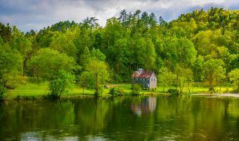 Фото бесплатно Hiwassee River, Tennessee, река