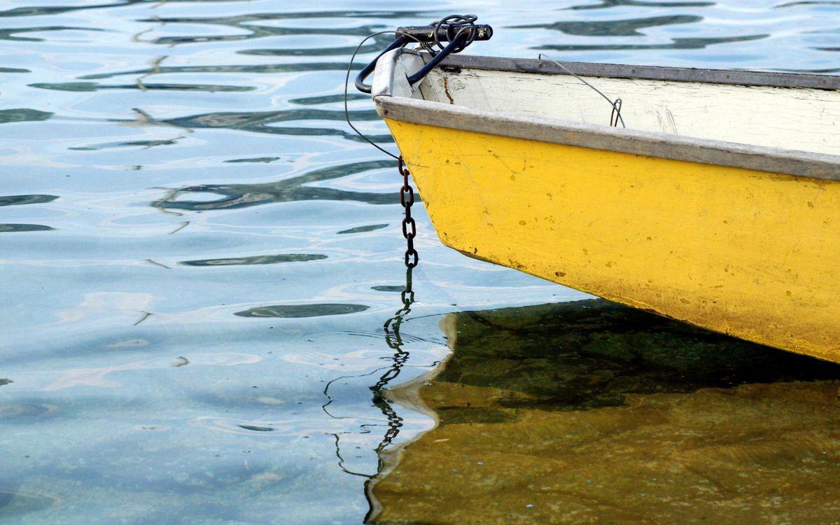 Фото бесплатно водоем, дно, лодка - на рабочий стол