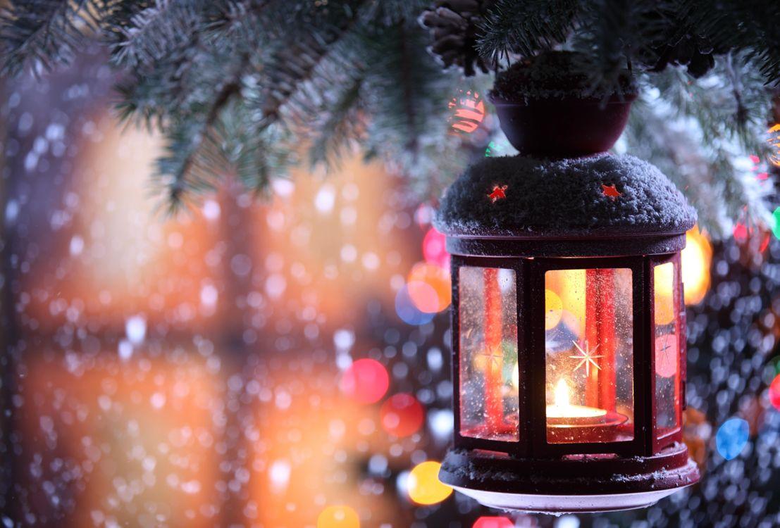 Фото бесплатно Рождество, фон, дизайн, элементы, новогодние обои, новый год, ветки, украшения, фонарик, новый год