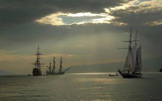 Фото бесплатно море, корабли, мачты