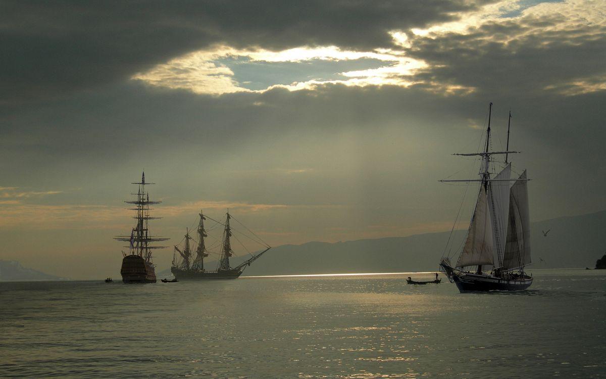 Фото бесплатно море, корабли, мачты - на рабочий стол
