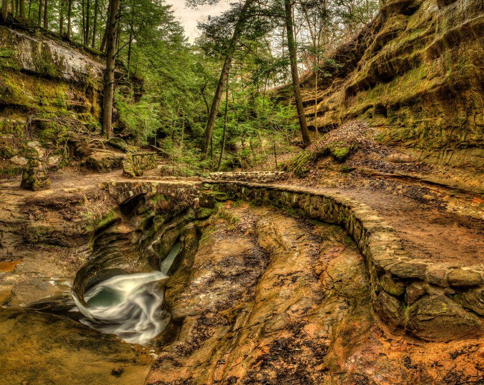 Фото бесплатно Devils Bathtub, Old Mans Cave, Hocking Hills State Park - на рабочий стол