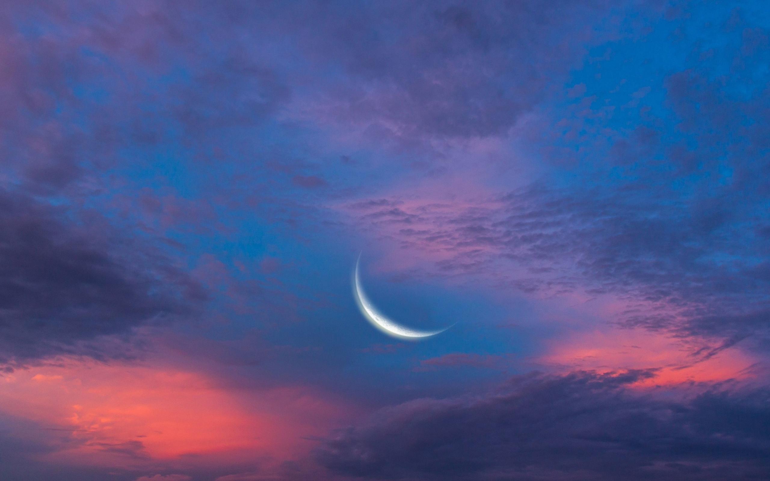 Небо луна облака скачать