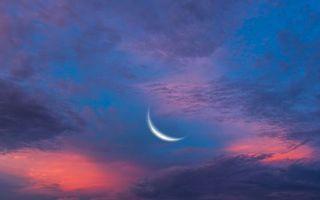Бесплатные фото луна,месяц,небо,облака,закат