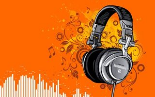 Photo free Headphones, notes, pattern