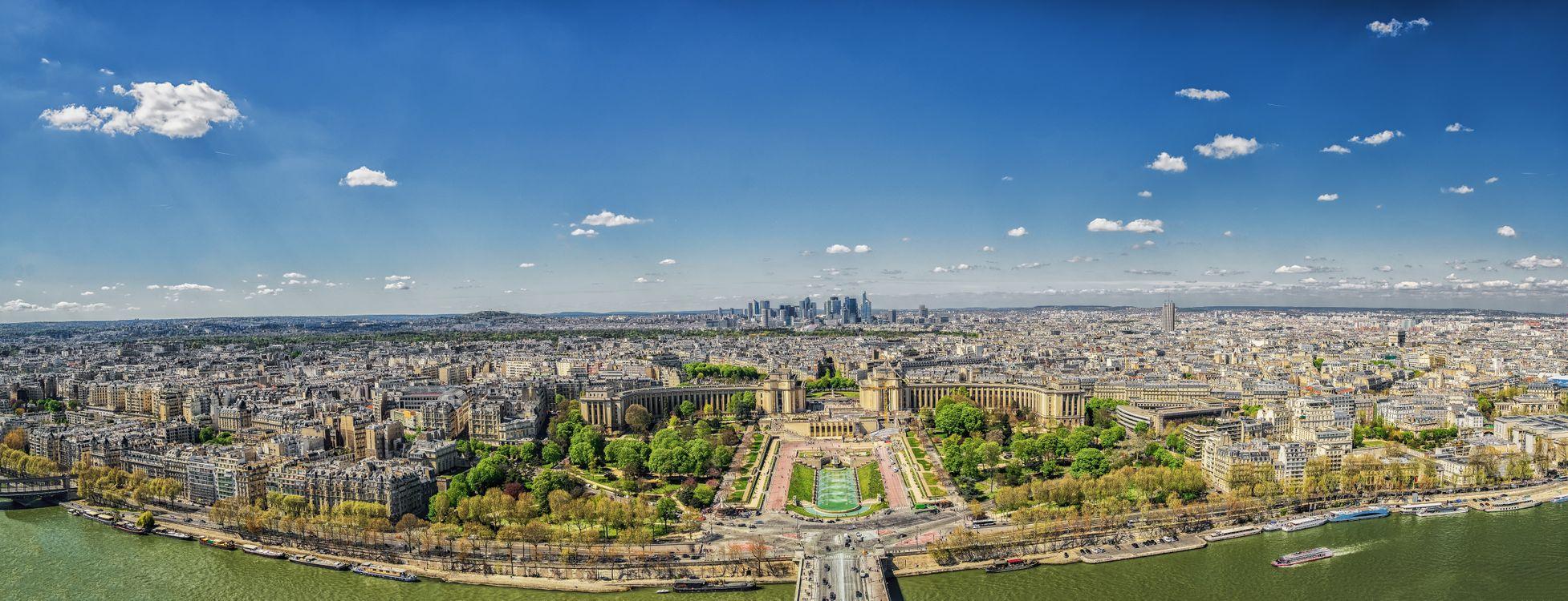 Фото галерея Париж панорама - бесплатные картинки на Fonwall