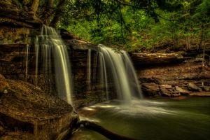 Бесплатные фото Claypool Falls,west virginia,водопад,скалы,деревья,водоём,природа