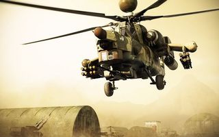 Фото бесплатно вертолет, боевой, вооружение
