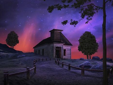Фото бесплатно луна, ночь, арт