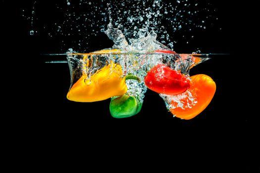 Бесплатные фото перец,вода,брызги,еда