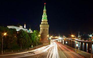Photo free Kremlin, Moscow, lights