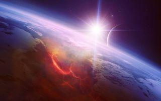 Бесплатные фото Космос,восход солнца,планета,луна,пейзаж