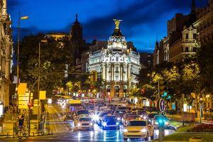 Бесплатные фото Отель Метрополис,Мадрид,Испания,город,ночь