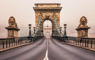 Фото бесплатно цепной мост, Будапешт, Венгрия
