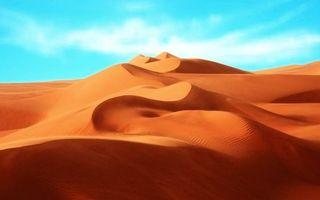 Фото бесплатно пустыня, песок, дюны, барханы, небо