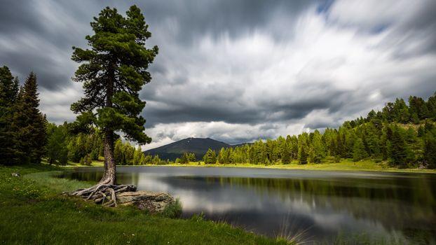 Фото бесплатно озеро, водоём, деревья, пейзаж