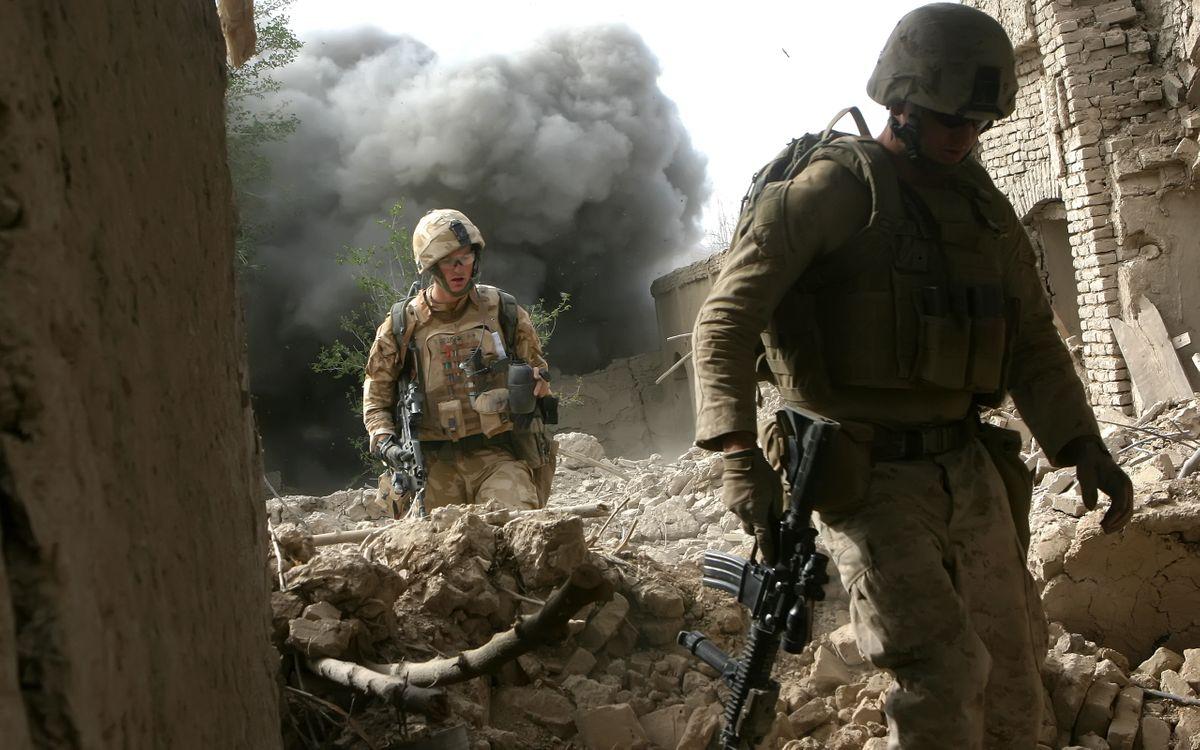 Фото бесплатно военные, мужчины, оружие - на рабочий стол