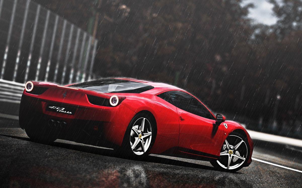 Фото бесплатно Ferrari 458 Italia, суперкар, дождь - на рабочий стол