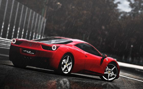 Фото бесплатно Ferrari 458 Italia, суперкар, дождь