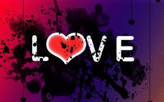 Бесплатные фото надпись,буквы,love,сердце,кляксы,пятна
