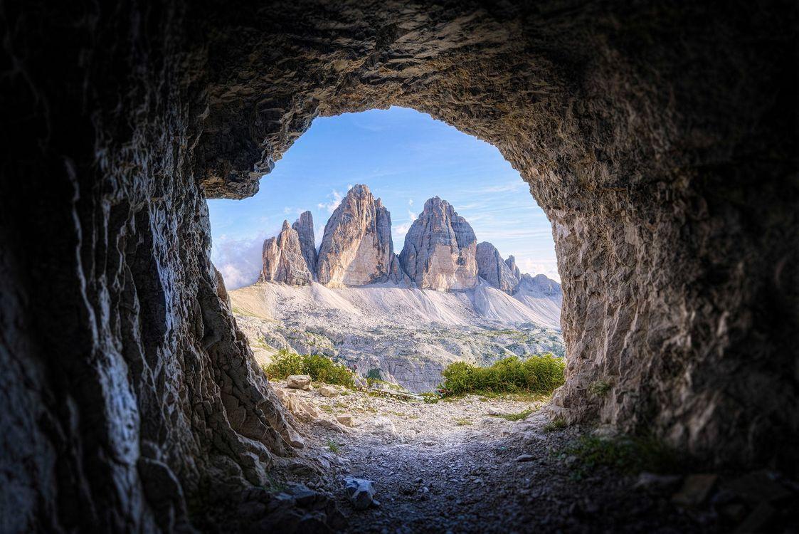 Фото бесплатно горы, пещера, арка, пейзаж, пейзажи - скачать на рабочий стол