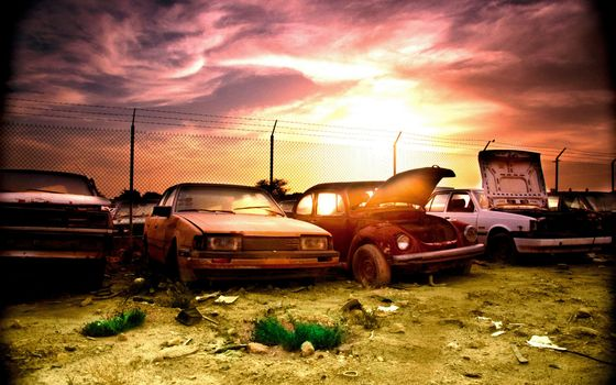 Photo free cars, old, dump