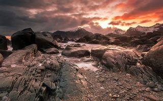 Фото бесплатно закат, скалы, гора