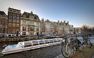 Фото бесплатно набережная, велосипеды, река