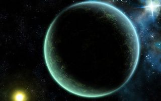 Фото бесплатно планета, солнце, звезды
