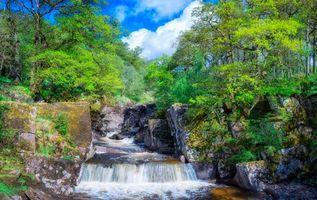 Фото бесплатно Trossachs National Park, Шотландия, Водопад, пейзаж