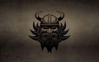 Заставки викинг, лицо, волосы, борода, шлем, рога
