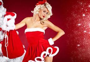 Фото бесплатно Новогодняя девушка, новогодний костюм, настроение