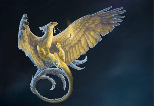 Фото бесплатно дракон, 3d, art