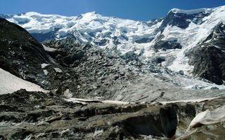 Фото бесплатно горы, скалы, камни, вершины, снег, небо