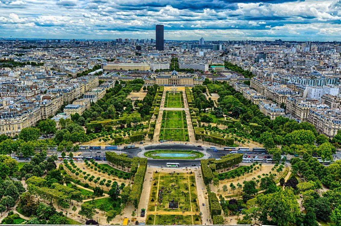 Фото галерея франция, вид с эйфелевой башни