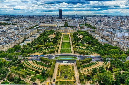 Фото бесплатно вид с эйфелевой башни, париж, франция