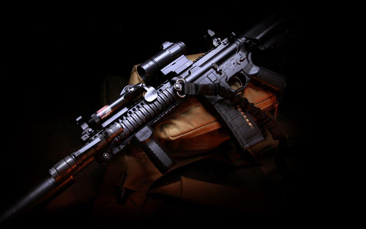 Фото бесплатно автомат, прицел, оптика, курок, магазин, ствол, оружие