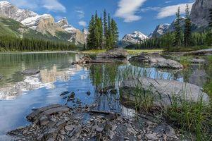 Бесплатные фото Jasper National Park, Maligne lake, Canada