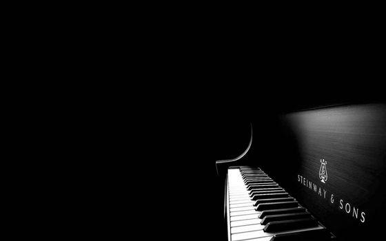 Заставки рояль, черная, надпись