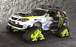 Фото бесплатно Subaru Monster Energy, вездеход, гусеницы