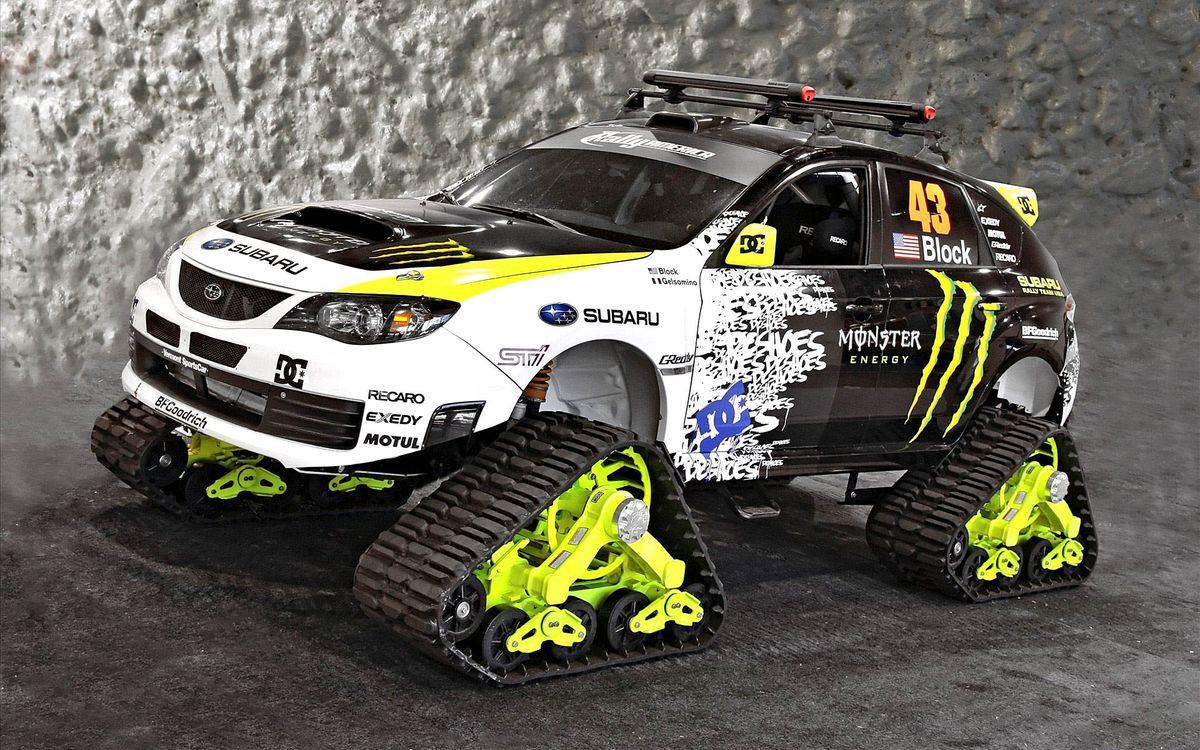 Фото бесплатно Subaru Monster Energy, вездеход, гусеницы, внедорожник, машины