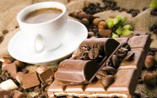Бесплатные фото чашка,блюдце,кофе,зерна,шоколад,плитка