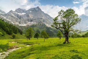 Заставки Австрия, поля, пейзаж