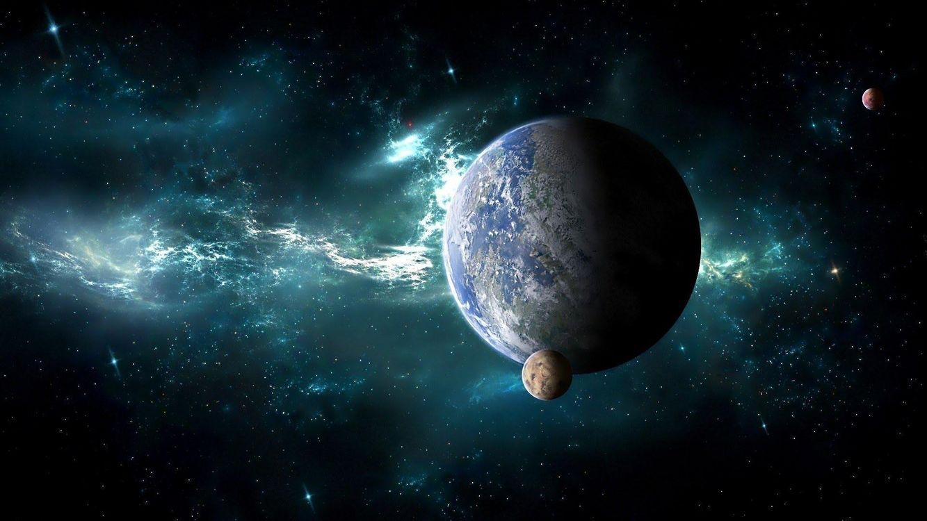 Фото бесплатно космос, вселенная, планеты, звёзды, созвездия, свечение, невесомость, вакуум, галактика, метеориты, art, космос