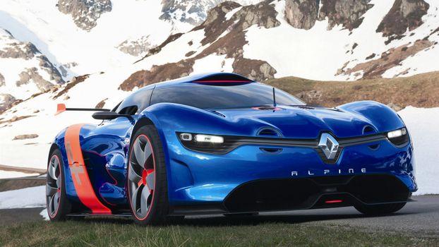 Photo free reno alpina, blue, sports car